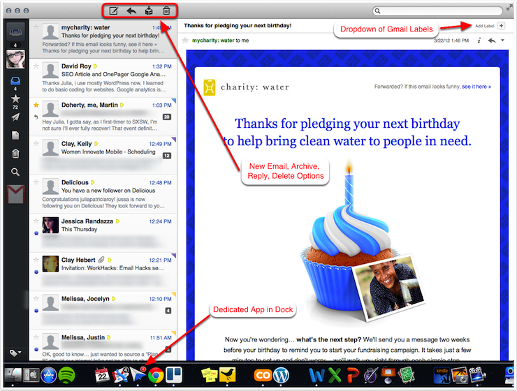 Sparrow 3rd Party Application for Gmail [Mac Only]